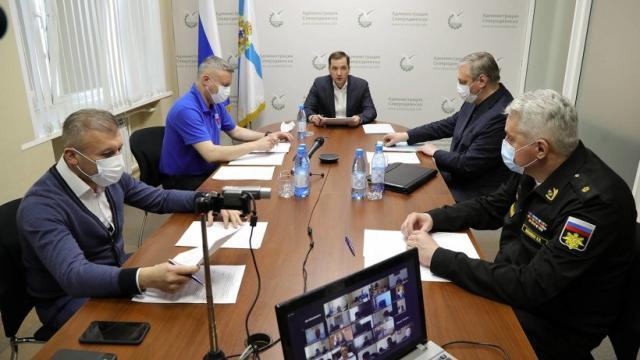 В субботу врио губернатора Цыбульский экстренно посетил Северодвинск