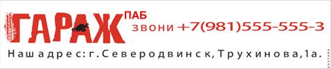 Паб гараж - звони +7 (981) 555-555-3