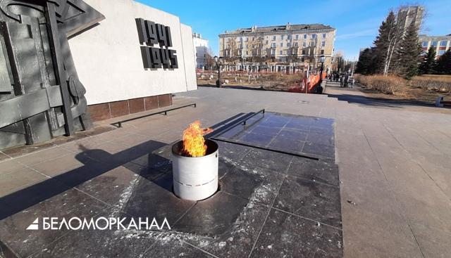В Северодвинске после публикации БК пояснили, куда подевалась звезда с Вечного огня