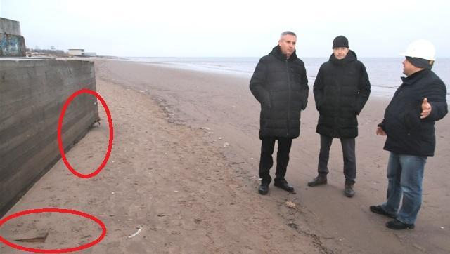 В Северодвинске отчитались по завершению этапа укрепления набережной на Яграх