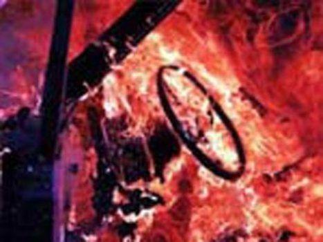 Ростовская область. В «Ниве» сгорели водитель и пассажир.